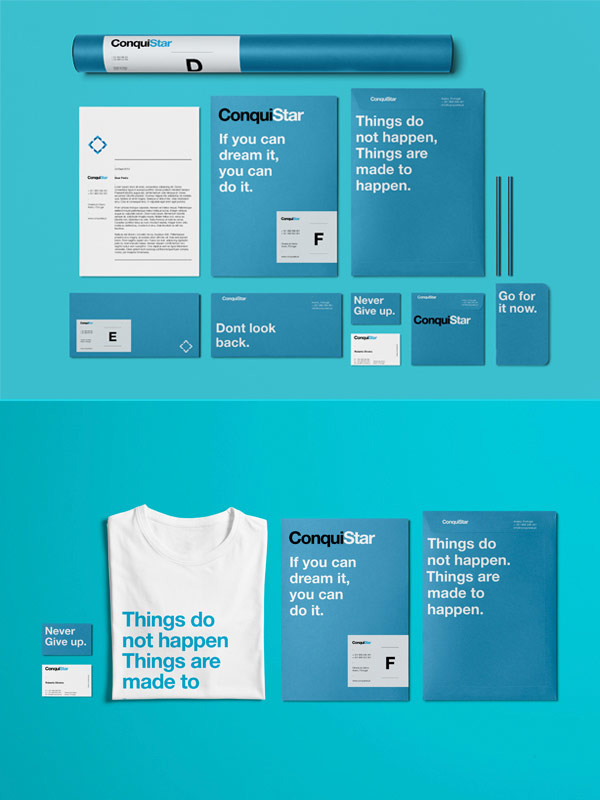ConquiStar - corporate identity for an investment program based on European funds