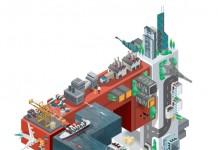 HSBC - RMB advertising campaign illustration