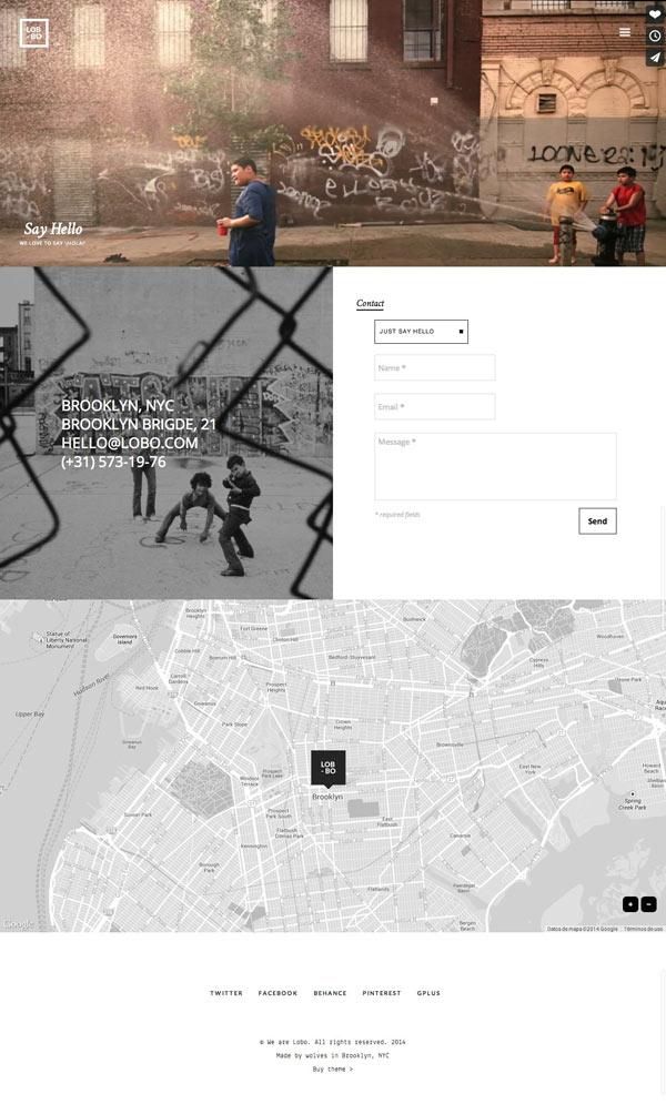 Lobo portfolio theme - contact site expample