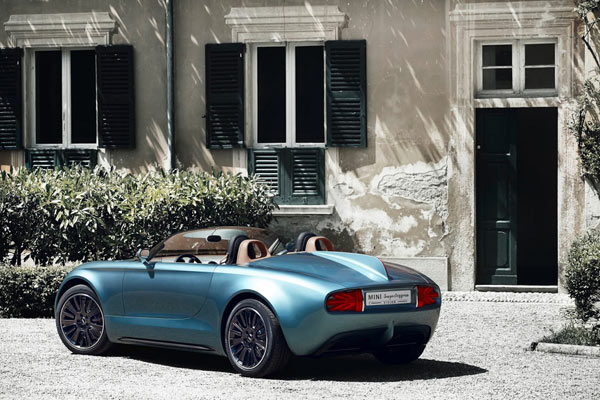 A visionary roadster concept created by MINI and Touring Superleggera.