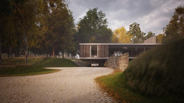 The Quest, high quality architectural renderings of a replacement dwelling in Swanage, Dorset, UK by Ström Architects