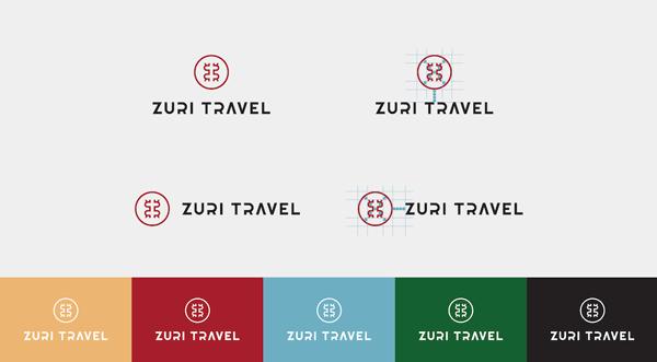 Zuri Travel - logo design by Republika Kreatywna