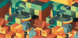 29th Cinema Jove Film Fest - Pattern Illustration by Casmic Lab
