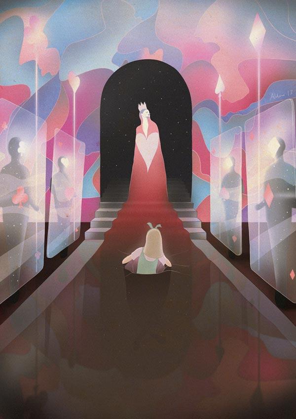 Alice in Wonderland Illustrations by Aldous Massie