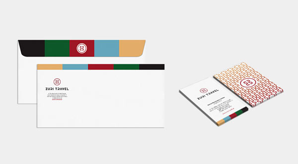 Zuri Travel - envelopes and business cards by Republika Kreatywna