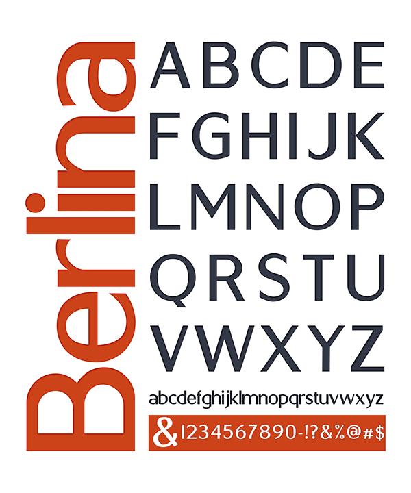 Berlina - free typeface