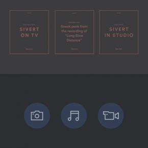 Sivert Høyem - Musician Website and Visual Identity by ANTI