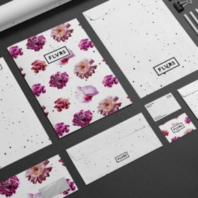 Floral Identity Design by Agata Fotymska for a Florist from Poland.