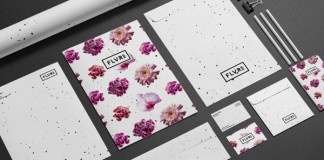 Floaral stationery design and brand identity