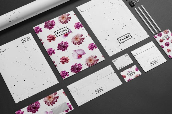 Floaral stationery design and branding.