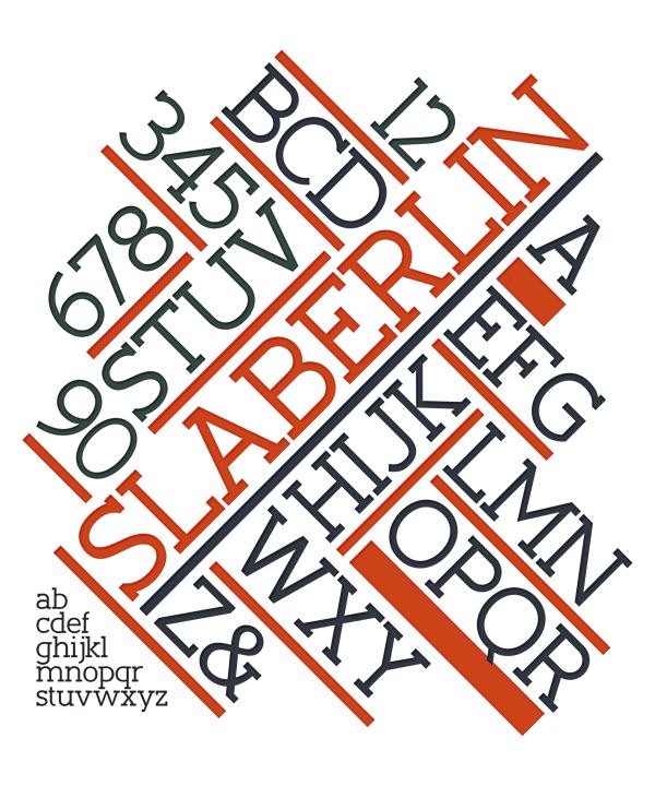 Slaberlin - free slab serif font