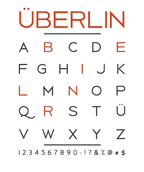 Überlin - free sans serif typeface