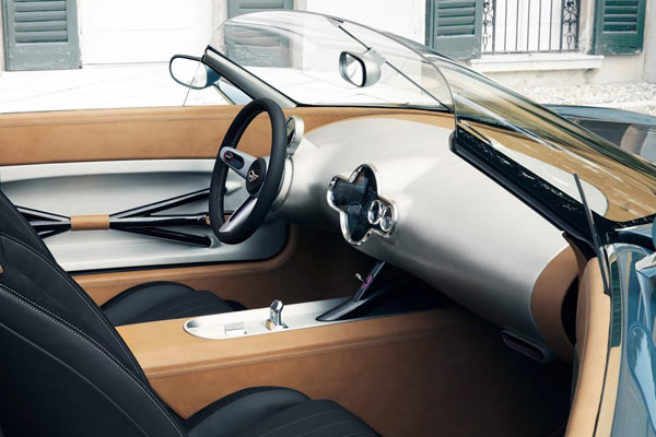 Clean and sophisticated design inside the car.