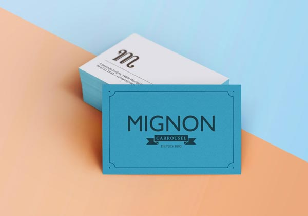 Mignon business card design by Benoit Galangau