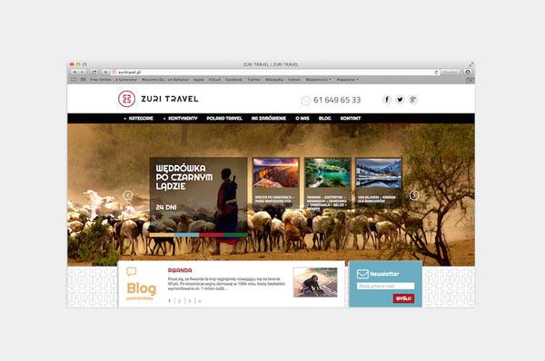 Zuri Travel - web design by Republika Kreatywna