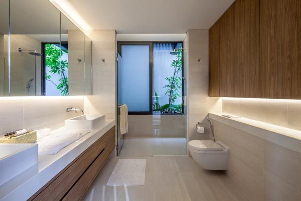 The far sight house in singapore by wallflower architecture design Modern bathroom design singapore