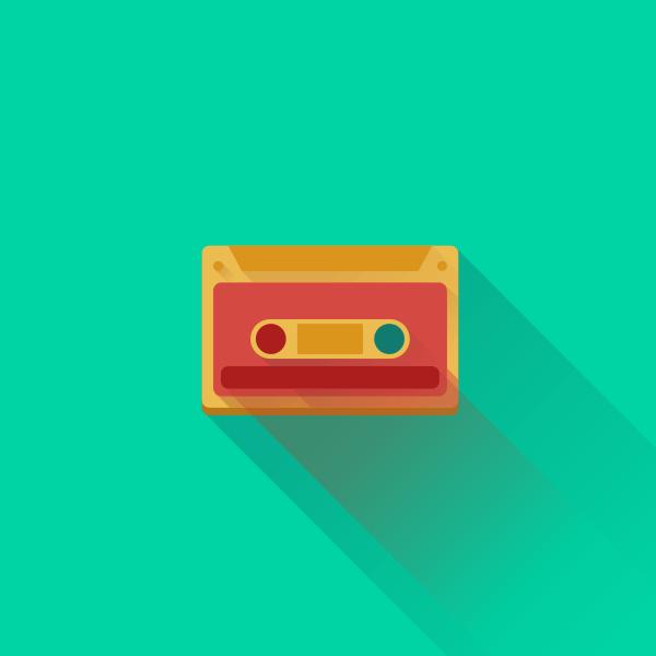 80s Cassette - Flat Design by Tsveta Petrova