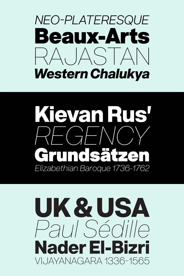 Acronym sans serif font family from Reserves
