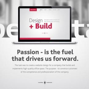 Corporate Website Design for Bekshta