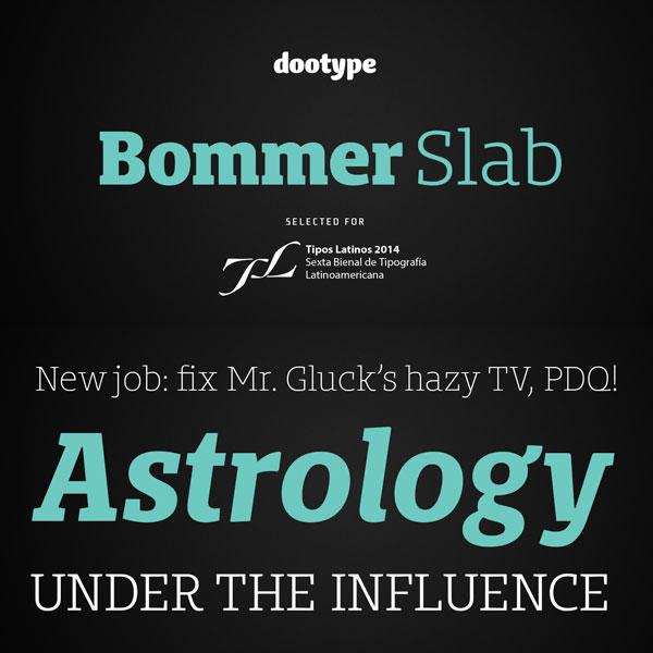 Bommer Slab Font Family from dooType