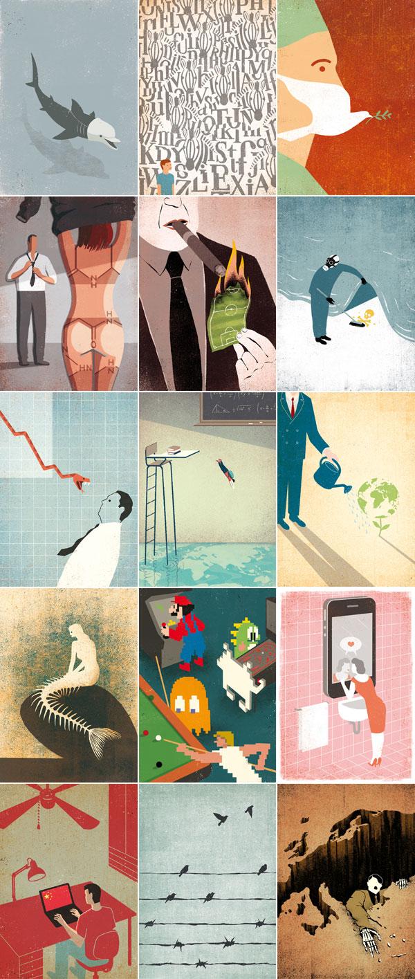 Conceptual Illustrations by Davide Bonazzi