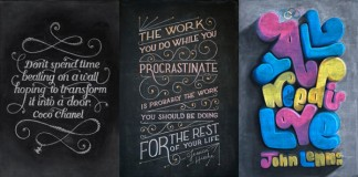 Famous Quotes Illustrated on Chalkboards by Dangerdust