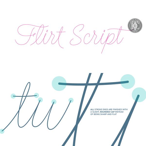 Flirt Script typeface by font designer Neil Summerour