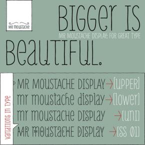 Mr Moustache - Hand Drawn Font Family