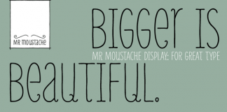 Mr Moustache font family