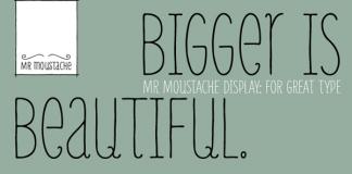 Mr Moustache font family