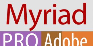 Myriad Pro from Adobe