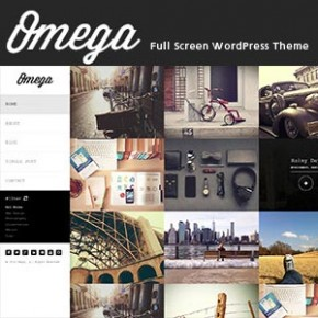 Omega, A Full Screen WordPress Theme