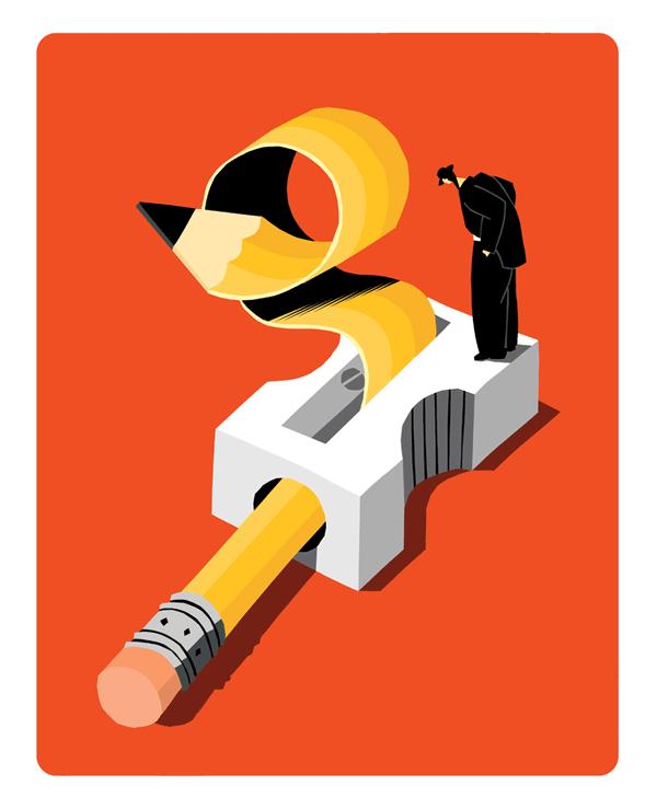 Pencil - Artwork by Illustrator Craig Frazier