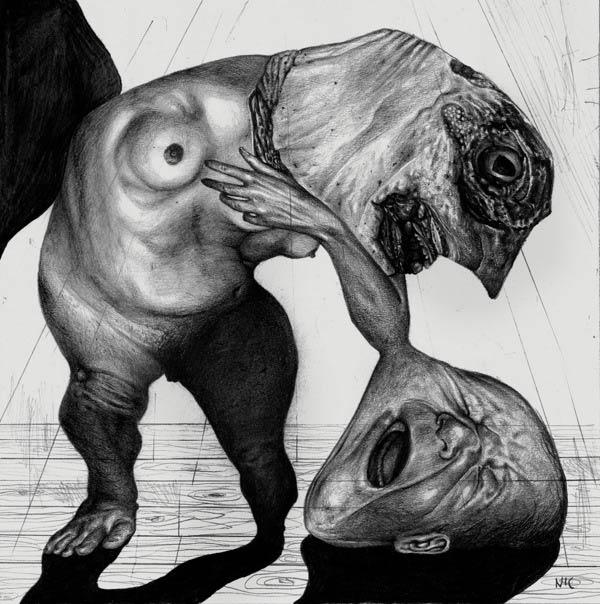 Bizarre Drawing by Nicola Alessandrini