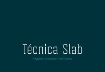 Tecnica Slab font family from Graviton