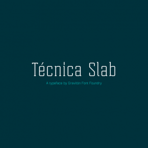 Tecnica Slab Font Family from Type Foundry Graviton