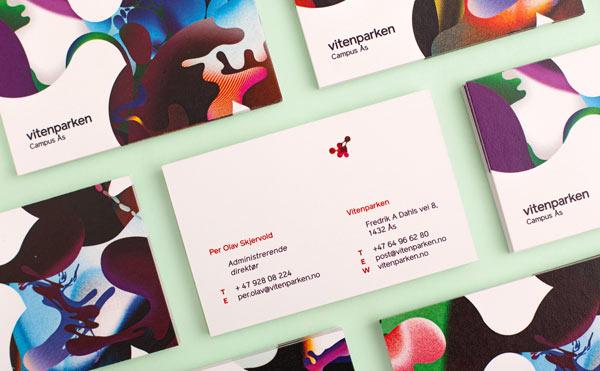 Vitenparken business cards