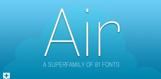 Air Superfamily of 81 Fonts by Positype