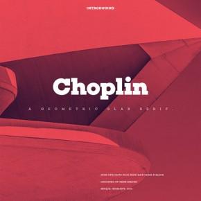 Choplin Font Family - Geometric Slab Serif Typeface