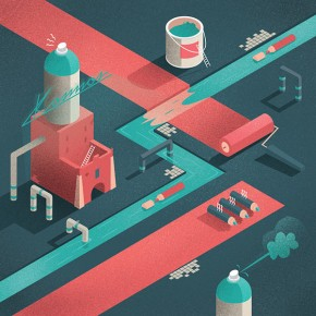 Editorial illustrations by Michał Bednarski
