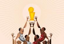 NBA Playoffs 2014 - The Finals - San Antonio Spurs vs Miami Heat - Illustrations by Davide Barco