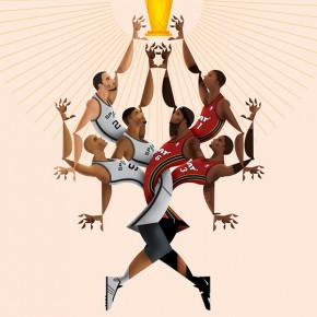 NBA Playoffs 2014 - Poster Illustrations by Davide Barco