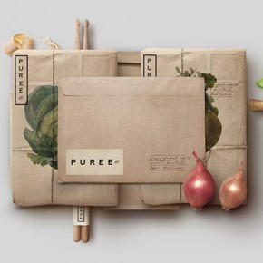 Puree Organics - Natural Corporate Identity Design