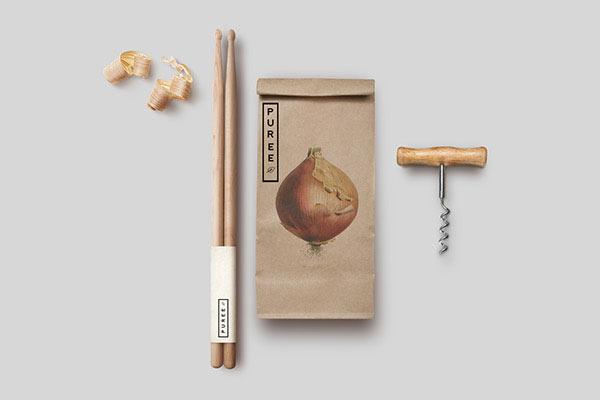 Puree Organics - natural visual identity by Studioahamed