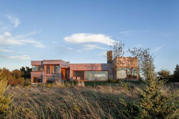 Wooden island residence in the natural environment of Edgartown, Massachusetts by Peter Rose + Partners