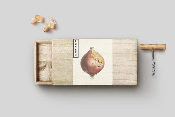 Branding materials - wooden box