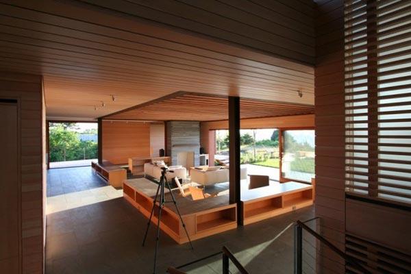 Inside the wood house