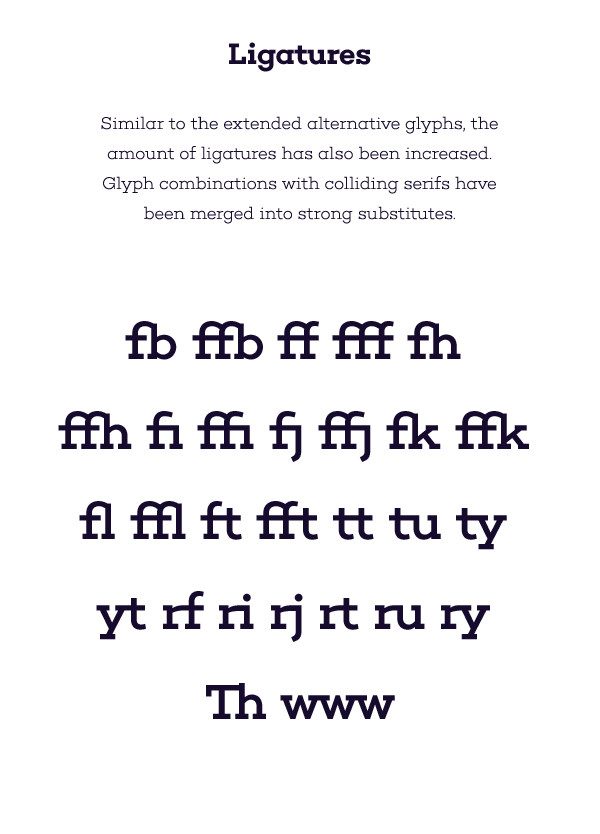 Several ligatures