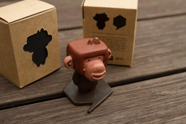 Fancy ape and packaging design for self promo.