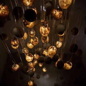 Tranquality Nodes - Sand Lamps by Talin Hazbar from Dubai
